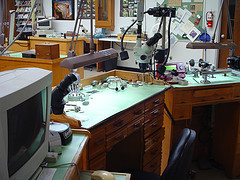 Instructor's work benches